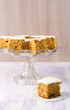 Carrot, apple, cranberry and banana cake Royalty Free Stock Photos