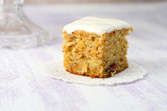 Carrot, apple, cranberry and banana cake Stock Images
