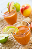 Carrot with Apple and Ginger juice Royalty Free Stock Images
