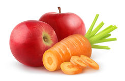Carrot and apple Royalty Free Stock Images