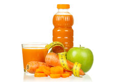 Carrot and apple juice Stock Photo