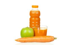 Carrot and apple juice Royalty Free Stock Photo