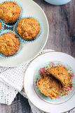 Carrot and apple muffins Stock Photography