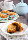 Carrot and apple muffins Royalty Free Stock Photo