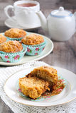Carrot and apple muffins Royalty Free Stock Photos