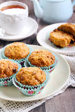 Carrot and apple muffins Stock Images