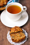 Carrot, apple, raisin and nut muffin Stock Image