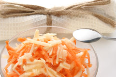 Carrot and apple salad in a bowl Royalty Free Stock Image