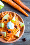 Carrot and apple salad with raisins Royalty Free Stock Photos