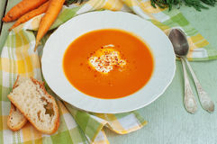 Carrot-Apple Soup Stock Images