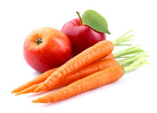Carrot with apple Stock Images
