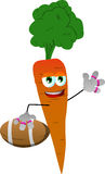 Carrot as American football player Royalty Free Stock Images