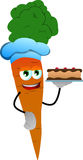 Carrot as confectioner Stock Photography