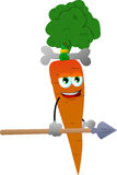 Carrot as native holding a spear Stock Photography