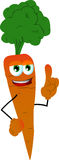 Carrot with attitude Royalty Free Stock Photos