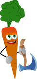 Carrot with axe Royalty Free Stock Images