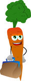 Carrot with bag Royalty Free Stock Photos