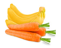 Carrot and banana Stock Photos