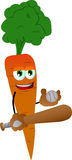 Carrot Baseball player Royalty Free Stock Images