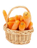 Carrot in Basket Stock Photography