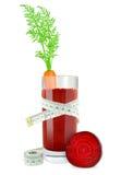 Carrot beetroot juice Stock Image