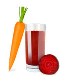 Carrot beetroot juice Stock Images