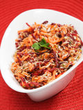 Carrot, beetroot, tuna fish salad Stock Image