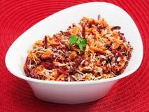 Carrot, beetroot, tuna fish salad Stock Photography