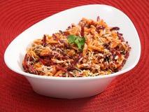 Carrot, beetroot, tuna fish salad Stock Photos