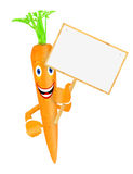 Carrot with board Royalty Free Stock Photos