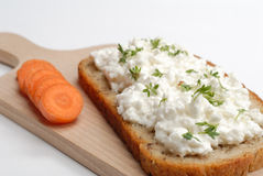 Carrot and bread Stock Images