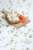 Carrot and bread Royalty Free Stock Image