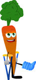 Carrot with a broken leg walking on crutches Royalty Free Stock Images
