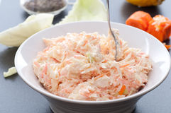Carrot And Cabbage Coleslaw Stock Photos