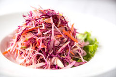 Carrot and Cabbage Salad. Carrot and Cabbage Detox Salad Stock Image