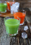 Carrot and cactus juice Royalty Free Stock Photography