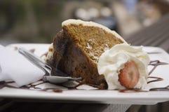 Carrot cake. Dessert Stock Image
