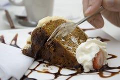 Carrot cake. Dessert Royalty Free Stock Photo