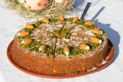 Carrot_cake fotografia de stock royalty free