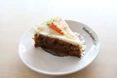 Carrot cake, Dessert. Carrot cake on a plate stock photography