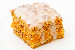 Carrot Cake. One piece of carrot cake Stock Images