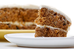 Carrot cake. A slice of carrot cake Royalty Free Stock Photography
