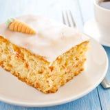 Carrot cake. Fresh carrot cake on white plate Stock Photo