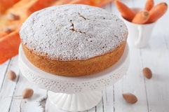 Carrot cake. Homemade carrot cake with almond Royalty Free Stock Images