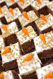 Carrot cake. Tighter frame this time and a little bit different perspective Stock Photos