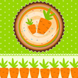 Carrot Cake Background Vector Illustration Royalty Free Stock Images