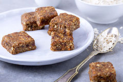 Carrot cake bars. Healthy version of carrot cake bars stock image