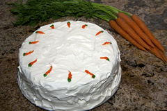 Carrot Cake with Carrots Stock Photos