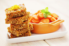 Carrot cake with coconut Royalty Free Stock Photography