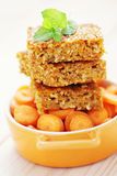 Carrot cake with coconut. Homemade carrot cake with coconut - sweet food /shallow DOFF stock photography